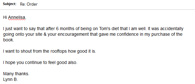 Lynn B Review Testimonial Tom Hypothyroidism Revolution Diet